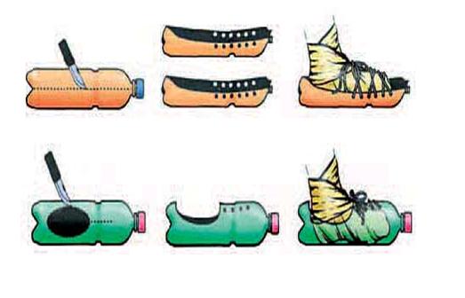 Самодельная обувь из пластиковой бутылки