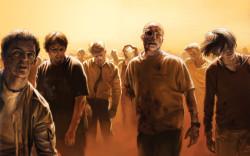 толпа зомби идёт