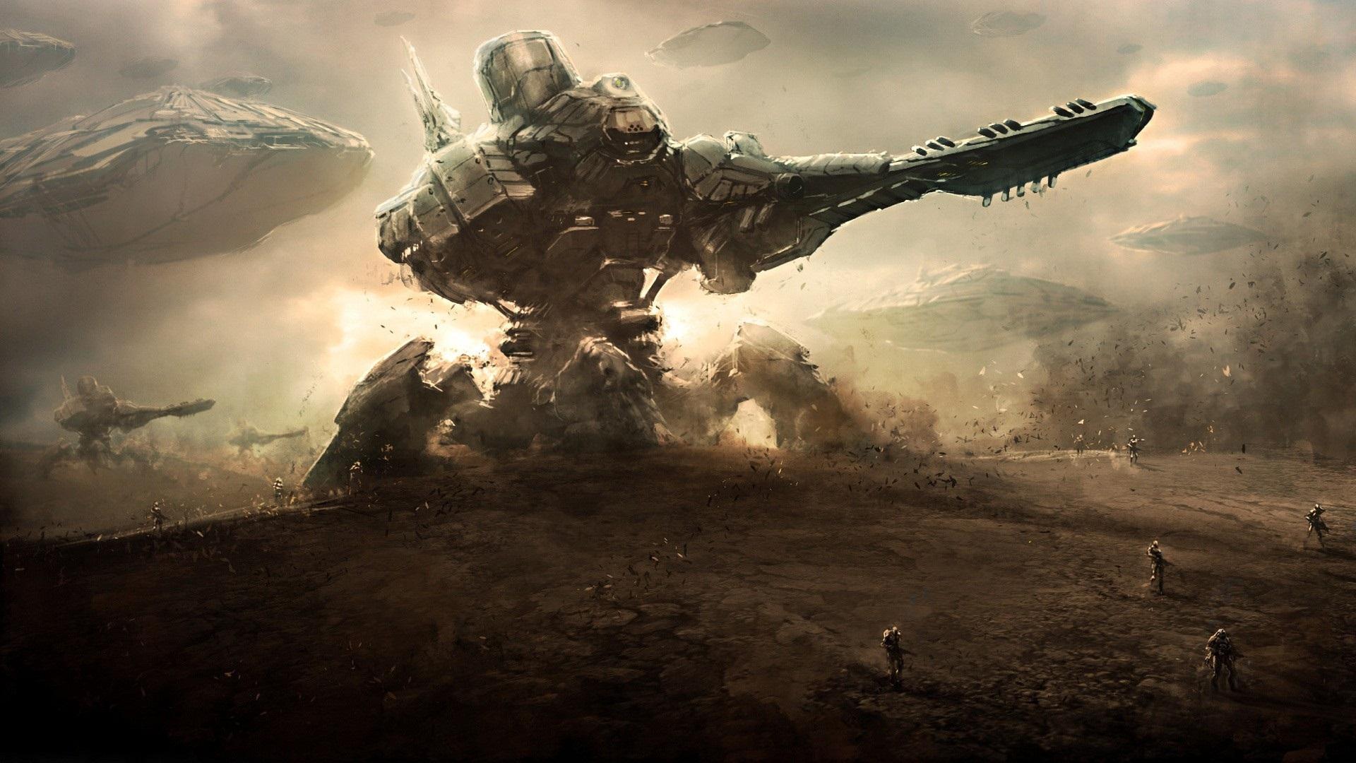 марш инопланетных войск