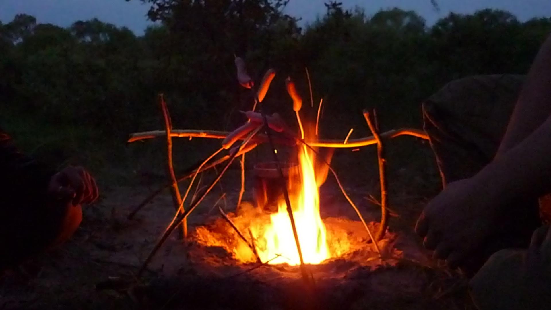 Огонь из костра дакота