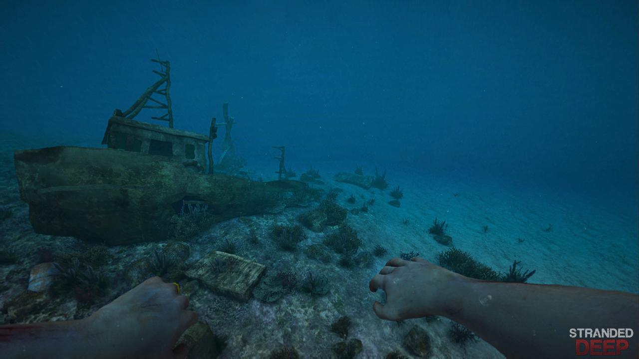 Stranded Deep на дне корабль