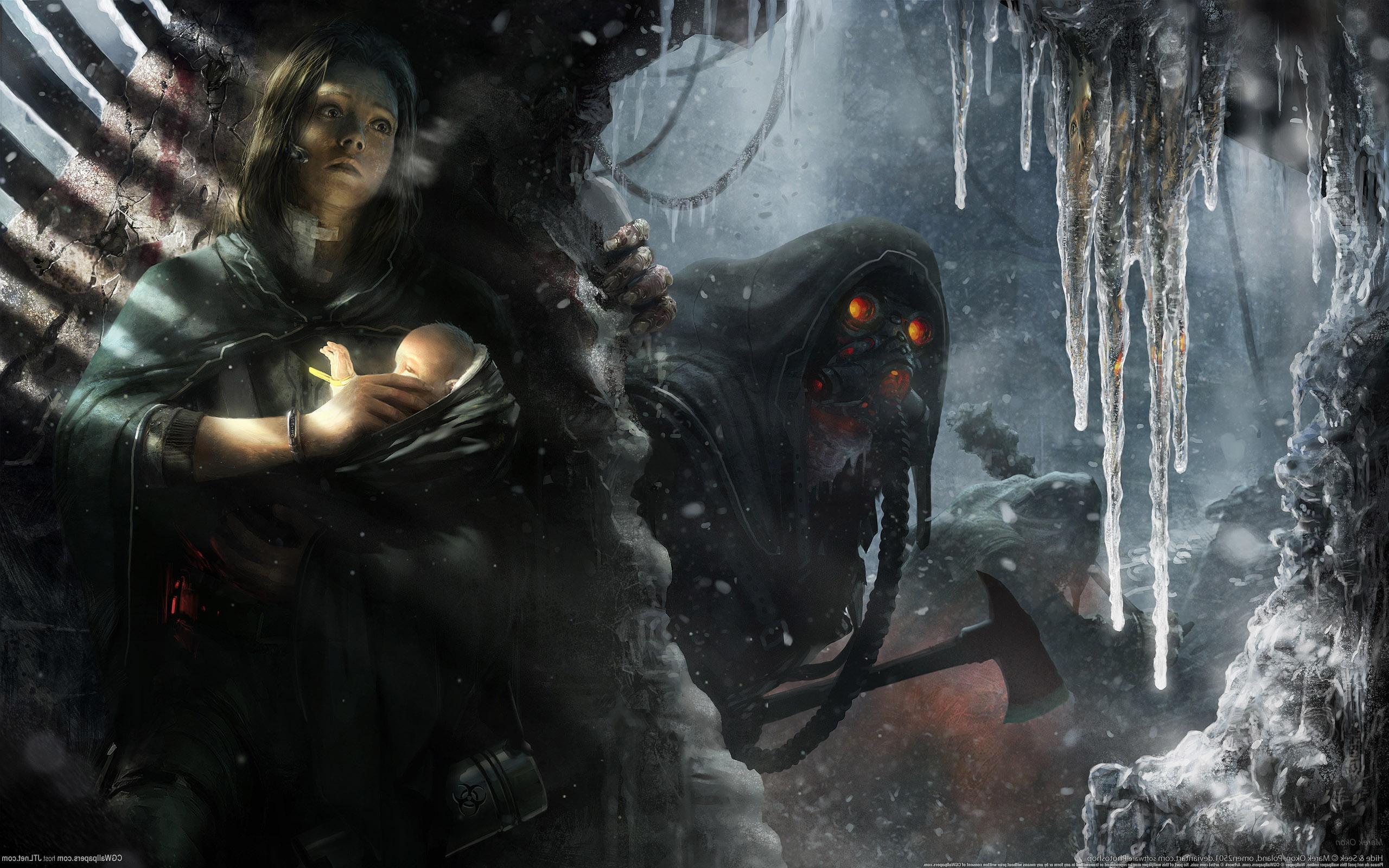 мать с ребёнком вовремя апокалипсиса