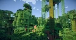 Так выглядят джунгли в игре minecraft