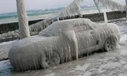 замёрз автомобиль