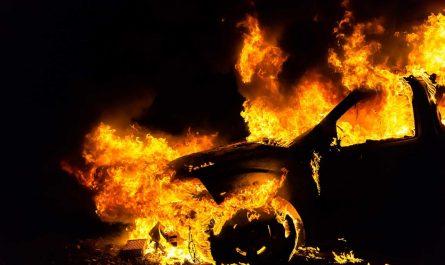 если горит машина