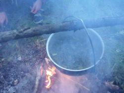 чай в походе из брусники
