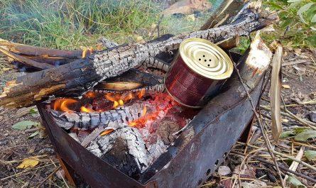 разогрев на огне консерв