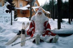 лыжи дед мороз