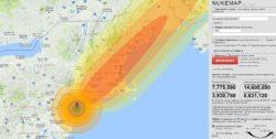 Последствия ядерного взрыва. Моделирование удара.