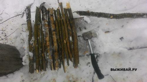 зимняя лопата в походе