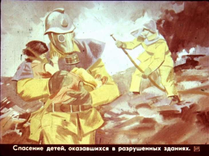 рисунок спасение детей из пажара
