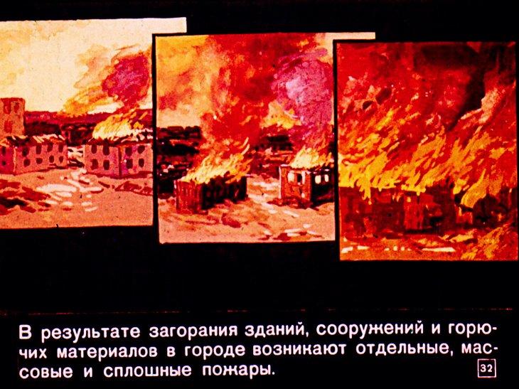 пожары при ядерном взрыве