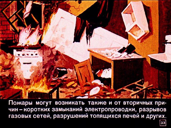 причины пожаров при ядерном взрыве