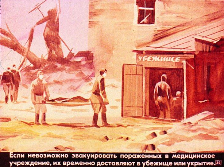 радиактивные убежища и пострадавшие