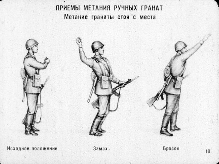 гранаты метание прием