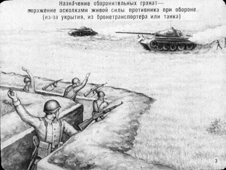 рисунок метания гранат