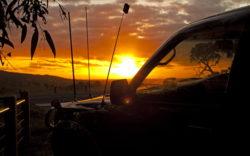 закат в машине выживание
